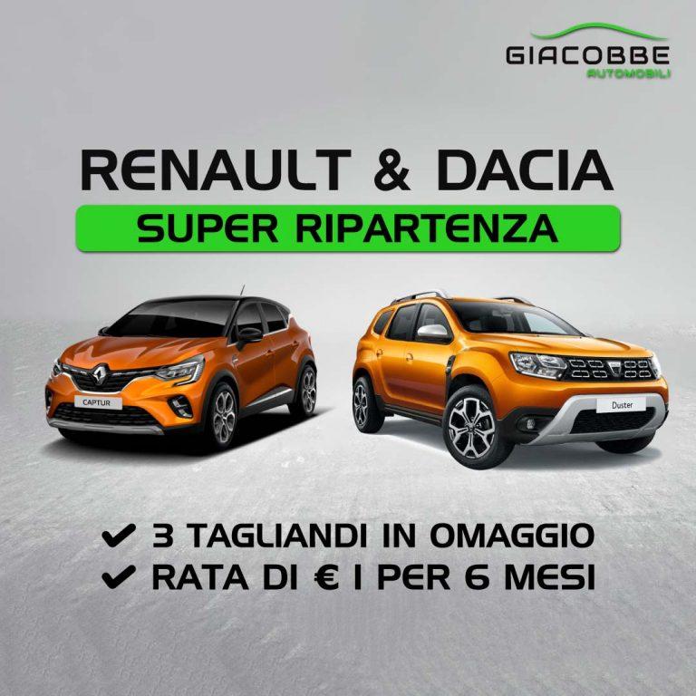 Renault Dacia acquista oggi paga tra 6 mesi