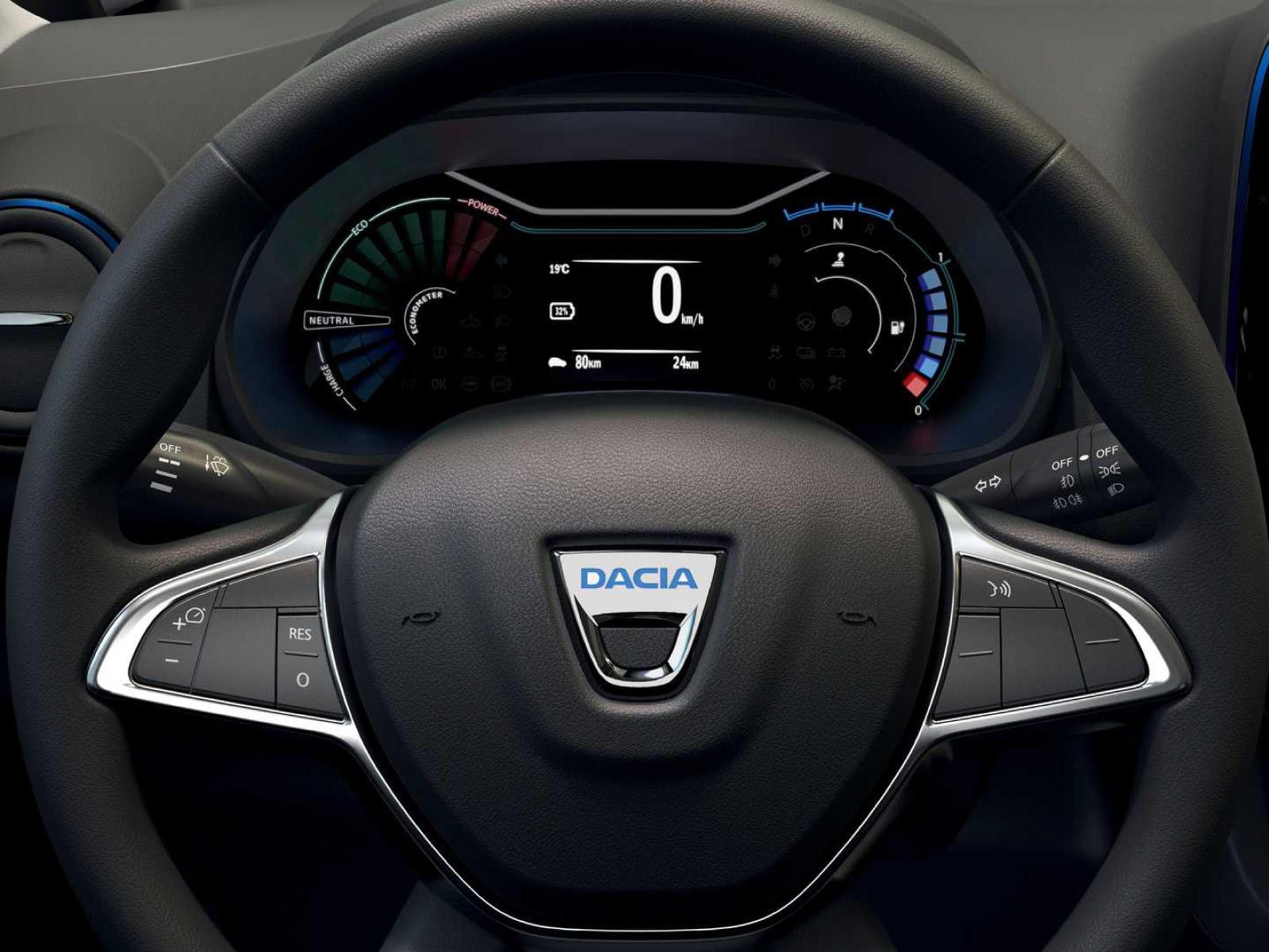 Cruscotto della Dacia Spring Electric